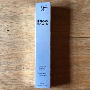 Brow pencil with brush.